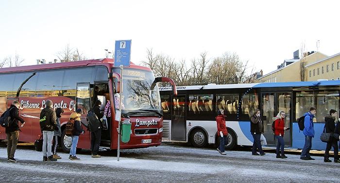 Busstationen i Borgå.